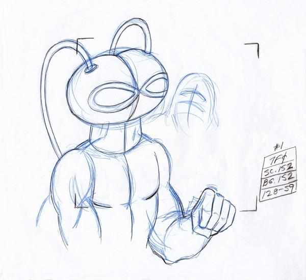Black Manta Original Production Drawing 4a